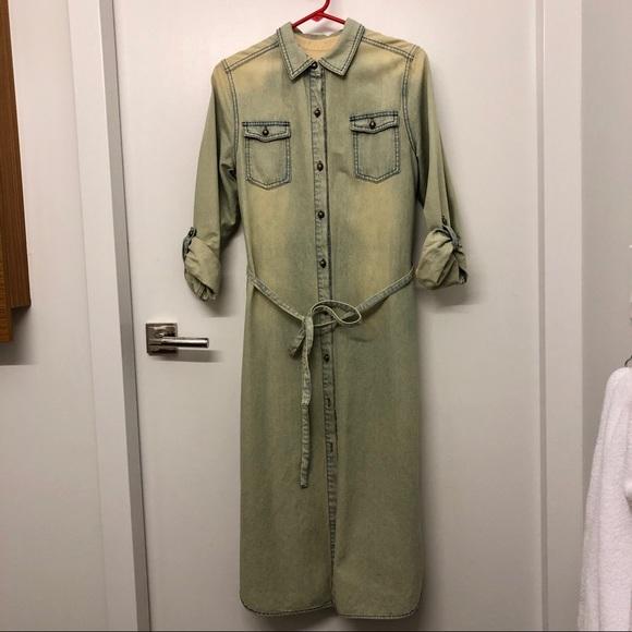 Jackets & Blazers - Denim shirt dress/coat